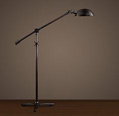 Franklin pharmacy task floor lamp antique brass need this in the all floor lighting rh aloadofball Gallery