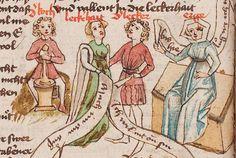 Wolfenbüttel, Herzog August Bibliothek,  Thomasin <Circlaere>   Welscher Gast (W) — Süddeutschland, 3. Viertel des 15. Jhs. Cod. Guelf. 37.19 Aug. 2° Folio 10v