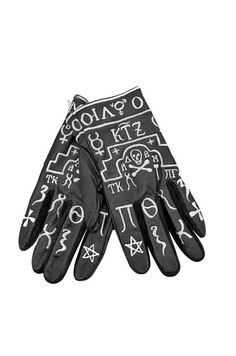 KTZ | Church Embroidery Leather Gloves.