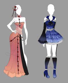 Outfit Adopt Sheet 18 (CLOSED) [AUCTION] by Elypsi.deviantart.com on @DeviantArt