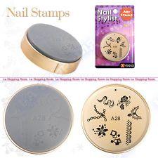Nail Art Stamp ENAS design image stamping DIY stencil printing salon stamper 28