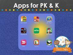 Apps for preschool, pre-k, and kindergarten.