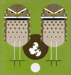 Birdie by Charley Harper