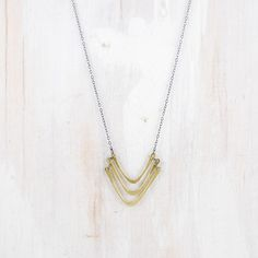 Gorge Triple Chevron Necklace, $94, now featured on Fab.