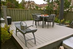 pvc decking contemporary patio deck materials exterior designs ideas garden benches