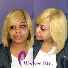 Bombshell blonde install by sew in by Coco                               WEAVES ETC. DOUGLASVILLE  3313 C Hwy 5 Douglasville, GA 30135  ☎️ 706-452-1221 💜💜 WE HAVE BUNDLES💜💜 Classic Sew-ins:  $50+ Bob Sew-ins: $65+ Quick Weaves: $45+ Crochets: $75 Natural Styles: $45+ Silk Press: $45+ Kids Styles: $25  #weavesetcga #laceclosure #crochetbraids #virginhair #weavesalon #atlstylist #bundledeals #promseason #sewins #douglasville #douglasvillestylist #boblife #quickweave #frontals…