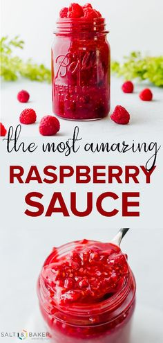This raspberry sauce is good finger licking! Rasberry Sauce For Cheesecake, Cheesecake Toppings, Raspberry Sauce, Raspberry Filling, Raspberry Crepe Recipe, Oreo Cheesecake, Raspberry Syrup Recipes, Raspberry Desserts, Fruit Recipes