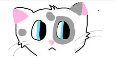 I drew this bc I was bored...I'm not good at drawing on the computer!! :(( but I guess I can do requests for cats that look like this bc it is easy??