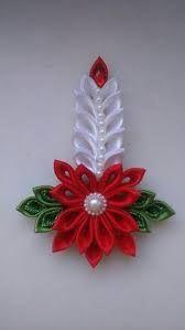 Image result for pinterest kanzashi christmas