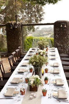 @Nicole DeCillo - Not like I'm planning your party for you (hahahaha)..couple of 10 or 12 foot tables?  We can do this for sure! Rustic Wedding
