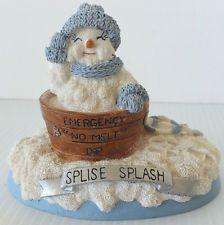Snow Buddies Misprinted Splise (Splish) Splash Encore 2000 Snowman Figurine