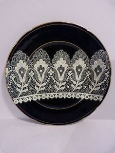 This lovely Testolini porcelain plate dates c1900-1920 It is cobalt blue in colour overlaid in white enamel with a lace design known as Merletto  Excellent condition for its age, hand signed in gold on the back Testolini Venezia  Measures 21cm diameter. I do have other plates with similar lace designs  Check out my other items !  The Testolini company was a retailer of italian lace at the end of the 19thc. it expanded into glass when it bought the famous Murano factory.