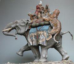 War Elephant attacked my sabretooth tiger desert jungle Фрагменты Elephant Sculpture, Sculpture Art, War Elephant, Elephant Gifts, Elephant Illustration, Hobbies For Men, Prehistoric Animals, Toy Soldiers, Animal Sculptures