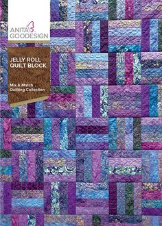 I had so many ideas after designing the original Folded Fabric Quilt Blocks collection that I decided to do another one. What inspired me the most were Jelly Rolls. Not the kind from a bakery but the kind from a quilt shop. The Jelly Rolls are a great way Strip Quilt Patterns, Jelly Roll Quilt Patterns, Strip Quilts, Patchwork Patterns, Easy Quilts, Pattern Blocks, Patch Quilt, Quilt Blocks, Quilting Patterns