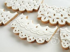 Eyelet Lace. ...How to make eyelet lace cookies.