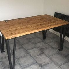 Package: Vintage Industrial Style Reclaimed Dining Table with Industrial Style Dining Table, Reclaimed Dining Table, Vintage Industrial, Dining Bench, Hairpin Table, Hairpin Legs, Under The Table, Wooden Tops, Extendable Dining Table
