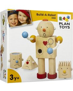 Preschoolers can build their own robot buddies from wooden pieces! Plus, the facial expressions help teach emotions. Click above to buy the toy.