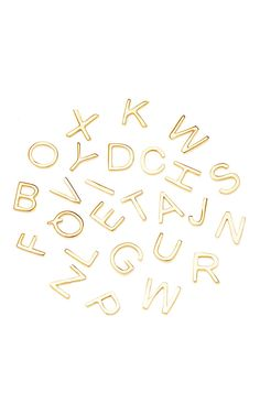 "18K Yellow Gold Letter ""M"" Charm by Loquet London for Preorder on Moda Operandi"