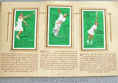Vintage Tennis Full complete Set of 50 Cigarette Cards in Original Album by John Player & Sons Issued in 1936 (ref: 5012)