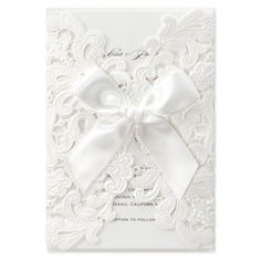 Shimmery Floral Wrap with Ribbon by B Wedding Invitations