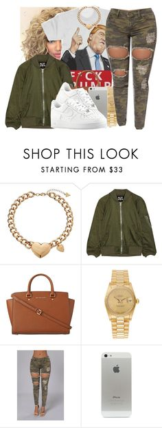 """71916"" by polyvoreitems5 ❤ liked on Polyvore featuring GUESS, NLST, MICHAEL Michael Kors, Rolex and NIKE"