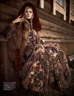 Fur-Obsessed Fashion Features - The Maryna Linchuk Vogue Russia November 2011 Editorial is Cozy-Chic (GALLERY)