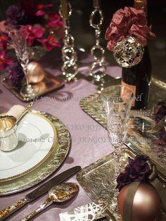 2014 12 クリストフルパリ ×JR名古屋タカシマヤ 泡のあるテーブル table for champagne Christofle paris× JR nagoya Takashimaya LESSON&DISPLAY