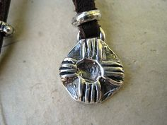 Rustic Artisan ZIA Sterling Necklace on Adjustable by jodybrimhall, $42.00