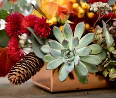 I've been really looking forward to this week - short work week (yay! I hope you all have fun and relaxing plans in the works for Thanksgiving! Work Week, Pretty Flowers, Wrap Style, Flower Arrangements, Succulents, Wraps, Thanksgiving, Gift Wrapping, How To Plan
