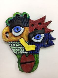 Splats, Scraps and Glue Blobs: One Clay Project - 3 Ways! Cantrell Inspired Clay Faces
