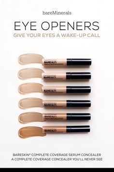 A silky smooth complete coverage concealer and serum in one. Designed to provide remarkable coverage with an ultra-light texture, bareSkin Complete Coverage Serum Concealer by bareMinerals instantly covers the appearance of dark circles, discoloration and other imperfections for a beautifully even-toned complexion.