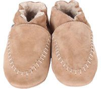 Infant/Toddler Boys' Robeez Cozy Moccasin - Taupe Crib Shoes