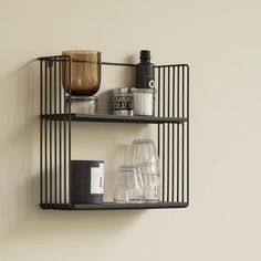 Linear Storage Shelf | Design Vintage | Black Metal Shelf Linear Storage Shelf Our Linear Storage Shelf is a contemporary design with the simplistic styling we all love! The shelves are ash wood and the frame is black metal. Perfect for the Kitchen, Living Space or Bedroom - try trailing plants from the shelves for a gorgeous effect. Load with beautiful products for an eye catching bathroom display. 43cm wide x 15cm deep x 40cm high Standard Delivery £5.95 £115.00