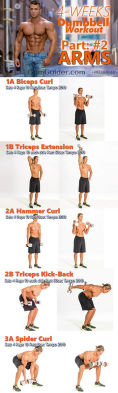 Though the arms are difficult muscles to build? We share how to get them toned up with dumbbells! With this 6 Most Effective arm Workouts. Goal-specific arm exercises workout program for men & women that consistently stresses arms. Bust out the dumbbells for this at-home arm workout that will work your biceps and triceps. When you want to isolate specific muscle groups in the arms, using dumbbells is truly effective - get ready to feel the burn!