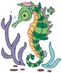 Seahorse 1 - 2 Sizes! | Beach/Ocean | Machine Embroidery Designs | SWAKembroidery.com Bunnycup Embroidery