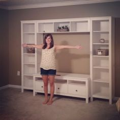 Ikea hemnes tv entertainment center entertainment unit white beauty the daily home interior decorating design ideas . Tv Entertainment Centers, Entertainment Products, Ikea Living Room, Living Rooms, Room Accessories, My New Room, Home Organization, Home Projects, Home And Living