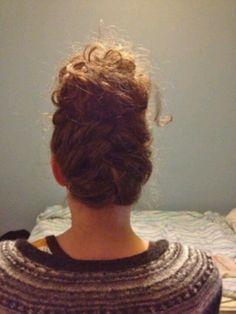 French braid bun. Cute...
