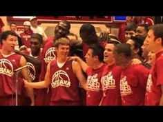 Hail to Old IU, sung by basketball players.  Oh Jordy. How you will be missed.