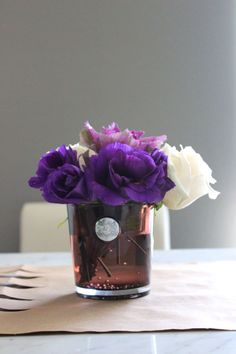 Beautiful flowers for a dressed table