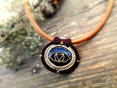 Items similar to Third eye chakra pendant. spiritual necklaces for women. wisdom stone healing symbols macrame wrapped on Etsy 7 Chakras, Leather Necklace, Diy Necklace, Necklaces, Yoga Teacher, Teacher Gifts, Chakra Meditation, Spiritual Meditation, Chakra Healing