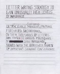 Letterwriting strategy