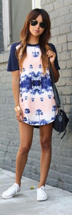 Vestido de verano y converse