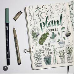Love these plant  doodles by  @bujo.maripol  •  •  •  #bujo #bulletjournals #bulletjournal #bullet #journal #bulletjournallife #planner #notes #love #life #pens #stationary #bulletjournalideas #watercolour #inspo #inspiration #study #muji #beautiful #progress #diary #November #art #washi #goals #wanderlust #travel #health #nomad