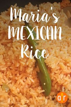 Marias Mexican Rice Whoa did I ever eat this right up This is not your everyday ordinary boring Mexican rice Authentic Mexican Recipes, Mexican Rice Recipes, Mexican Cooking, Mexican Dishes, Easy Mexican Rice, Recipes With Rice, Mexican Fried Rice, Green Chili Recipes, Mexican Chicken And Rice
