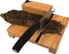 TEKUT Biltong Slicer With Carbide Knife Sharpener Bamboo TK for sale online Diy Cutting Board, Wood Cutting Boards, Ceramic Knife Sharpener, Beef Jerkey, Wood Projects That Sell, Biltong, Specialty Knives, Knife Sharpening, Kitchen Supplies