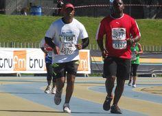 Mninawa Nhanha & Thembekile Mdiya -Legends Marathon 2014 photo by selina vickerman-prince. Marathon, Legends, Sports, Hs Sports, Sport, Marathons