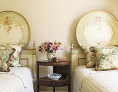 Hydrangea Hill Cottage | Beautiful painted headboards