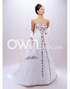 33 best color accented wedding dress styles images on Pinterest     Salable Color Accented Wedding Dress with Stunning Embroide  Color Accented  Wedding Dresses   ownDress