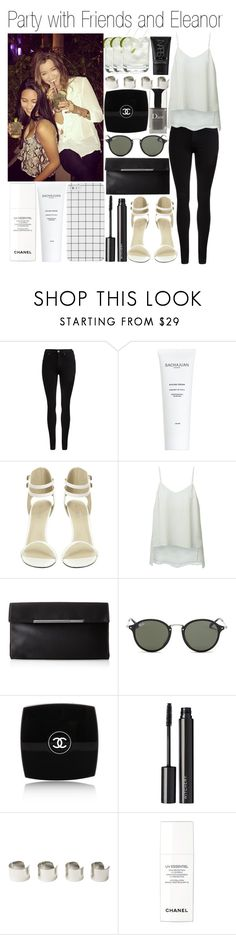 """""""Party with Friends and Eleanor"""" by carmen-vou ❤ liked on Polyvore featuring Guide London, Dr. Denim, J.Crew, Theory, BCBGMAXAZRIA, Ray-Ban, Chanel, Witchery, Maison Margiela and NARS Cosmetics"""
