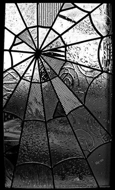 We love stained glass. spider web looking stained glass! Someday i'm gonna make stained glass for my doors and windows and it's going to look something like this! Casa Rock, Mosaic Glass, Glass Art, Tiffany Kunst, Goth Home, Gothic Home Decor, Gothic House, Gothic Room, Stained Glass Windows